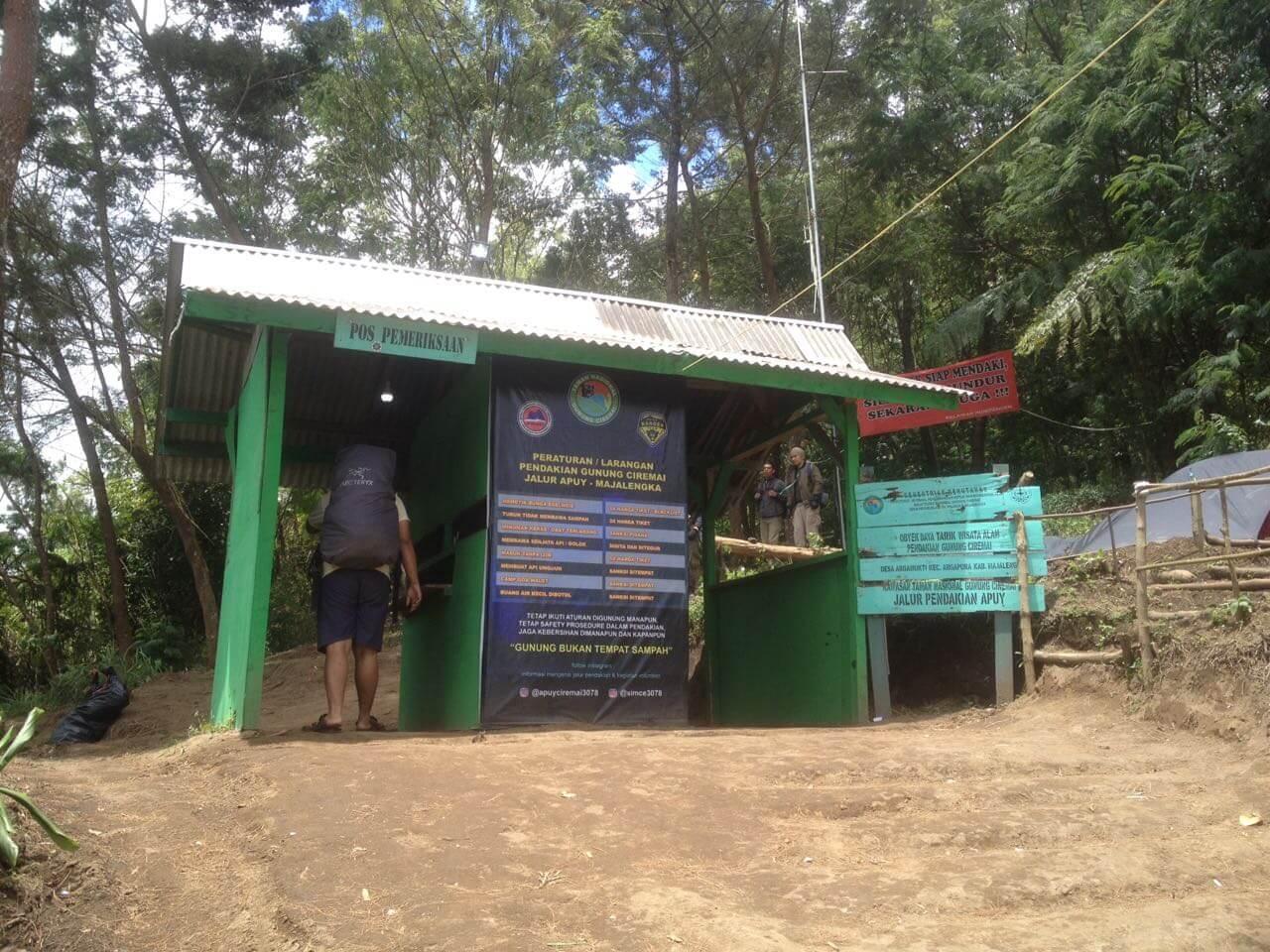 Pos Pemeriksaan Pendakian Ciremai via Apuy