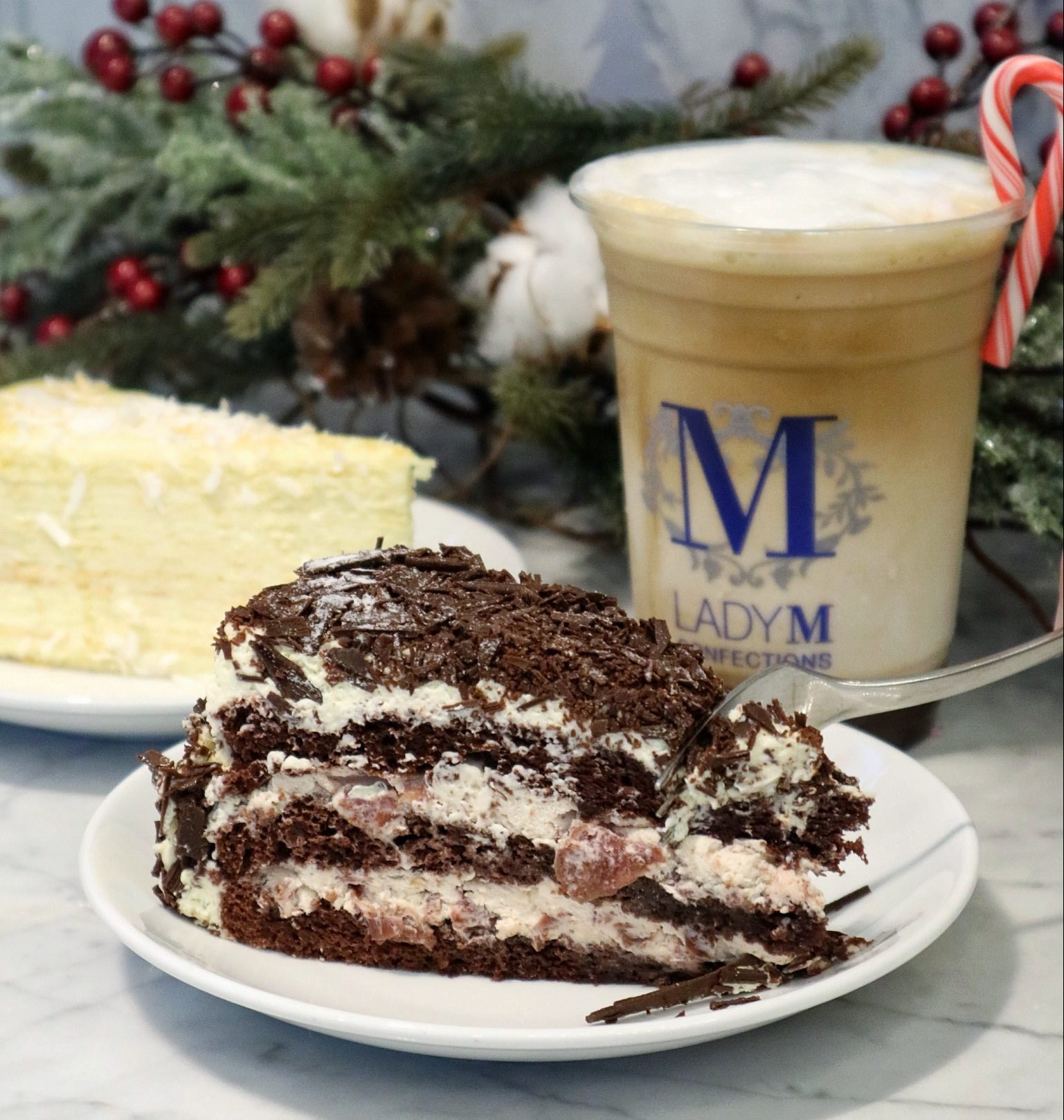 Lady M Singapore: New Christmas Special Black Forest Cake & Peppermint Mocha