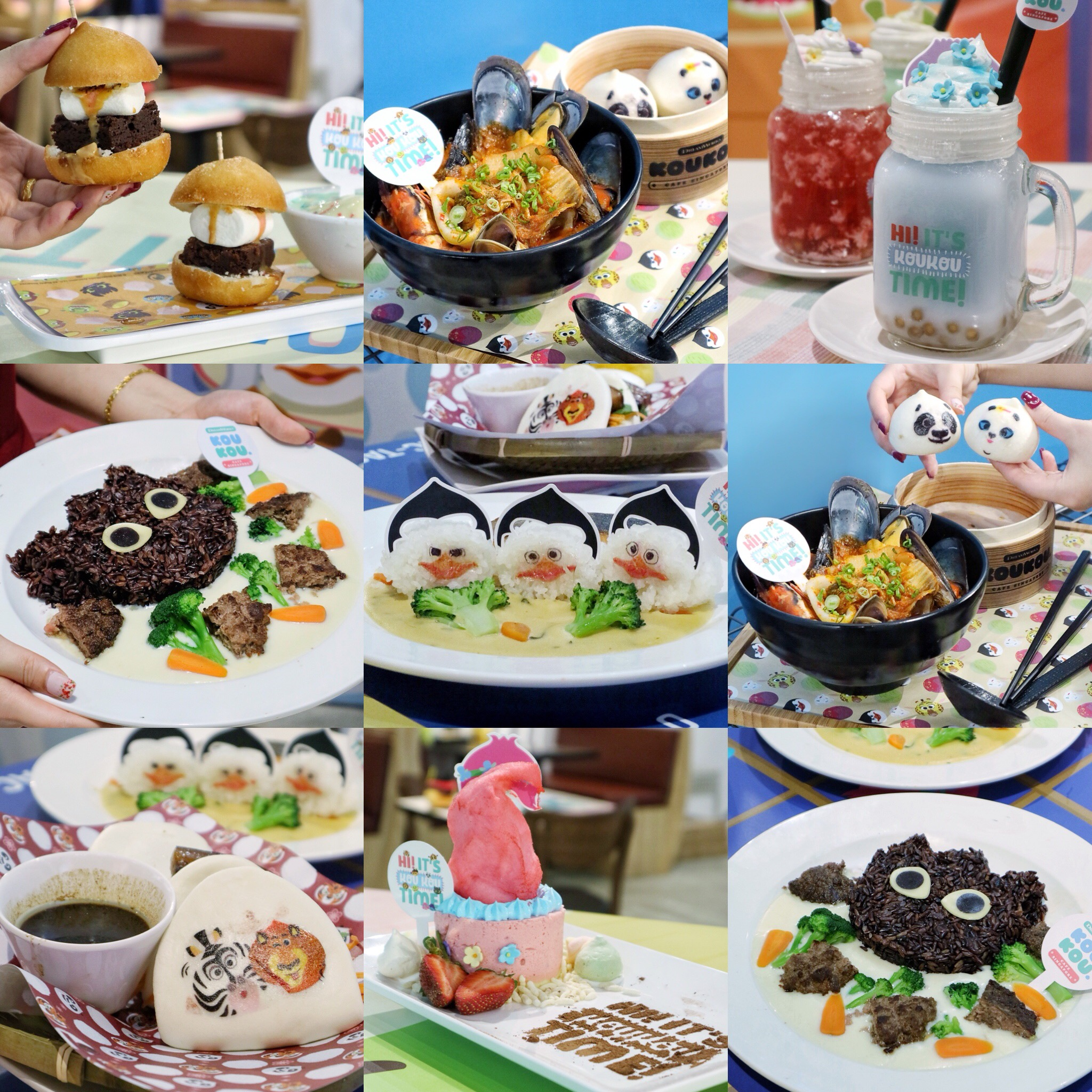 (NEW) DreamWorks KouKou Café: Popular DreamWorks Characters Comes To Life at Bugis +