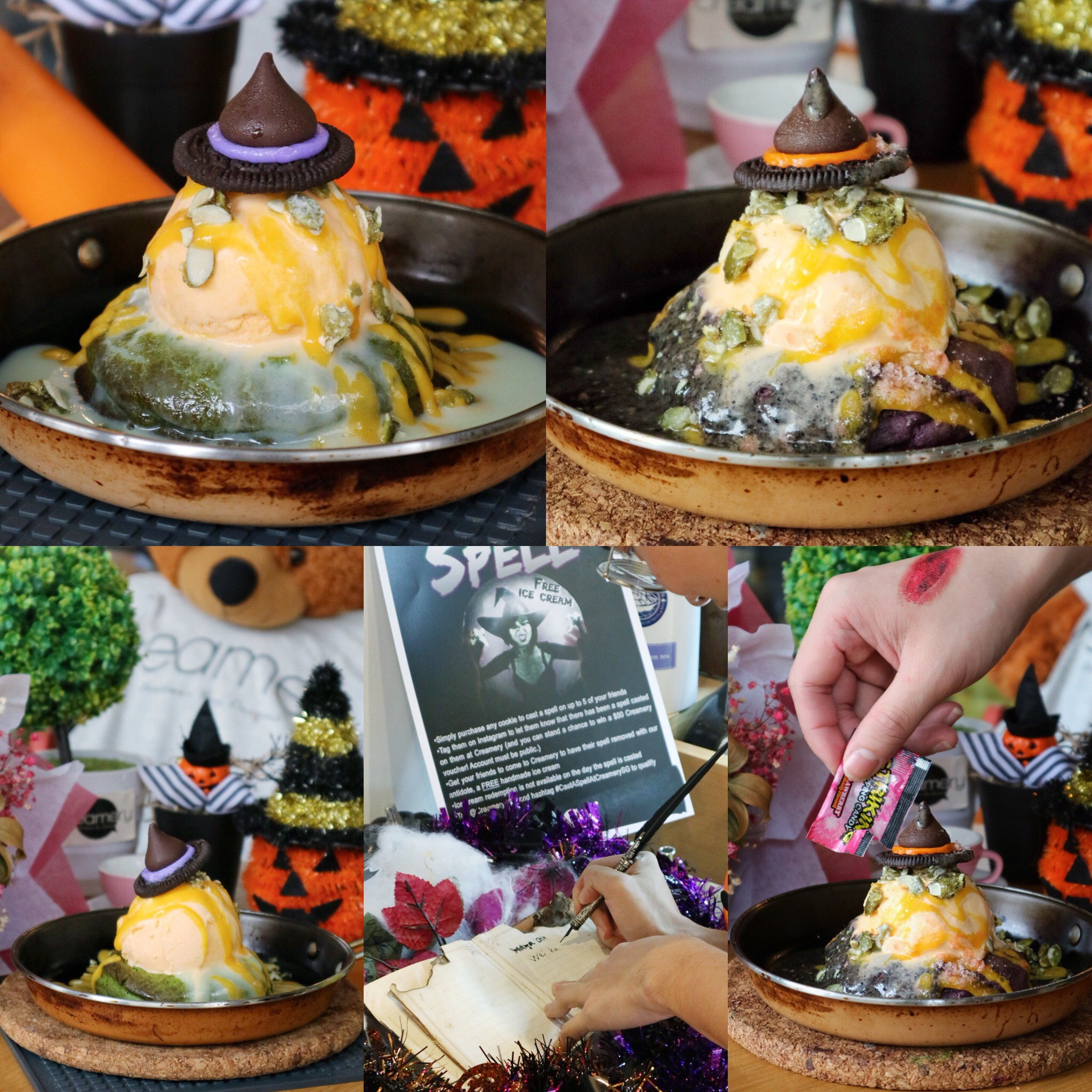 Creamery Boutique Ice Creams: Halloween Special Lava Cookies & Get A FREE Scoop of Ice Cream for Your Friends when you Cast a Spell!