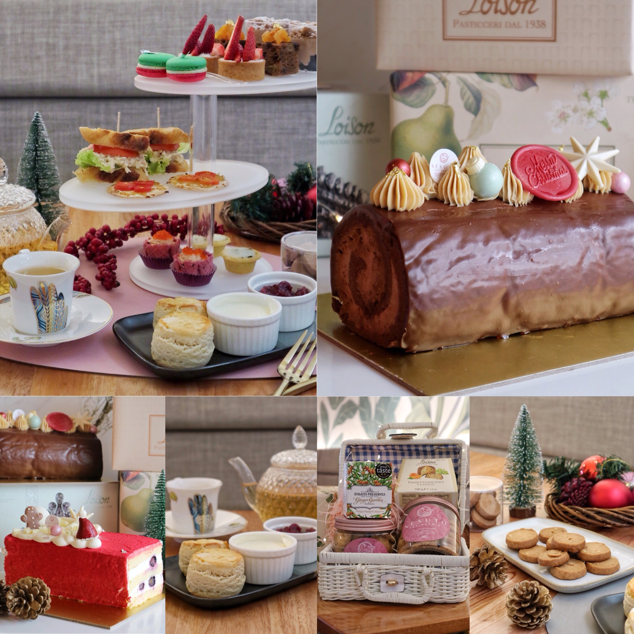 Nesuto: Celebrates Christmas with New Enchanted High Tea Set, Exquisite Log Cakes & Festive Cookies!