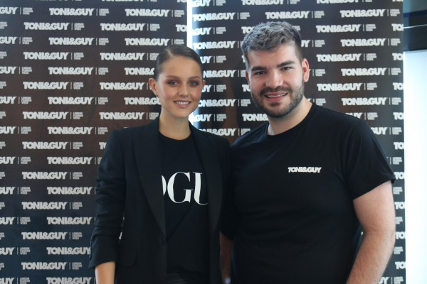 Hair Director Richi Grisillo with Isabelle Cornish