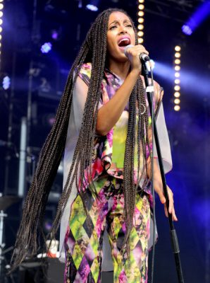 GLASTONBURY, ENGLAND - JUNE 28:  Solange performs on The Park Stage at day 2 of the 2013 Glastonbury Festival at Worthy Farm on June 28, 2013 in Glastonbury, England.  (Photo by Shirlaine Forrest/WireImage)
