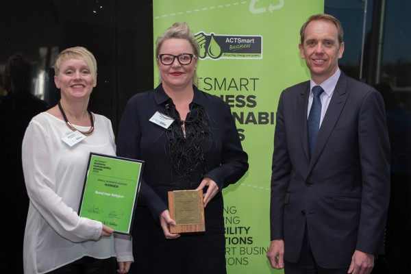 BHR 2015 ACTSmart Business Sustainability Awards - Small Business Winner