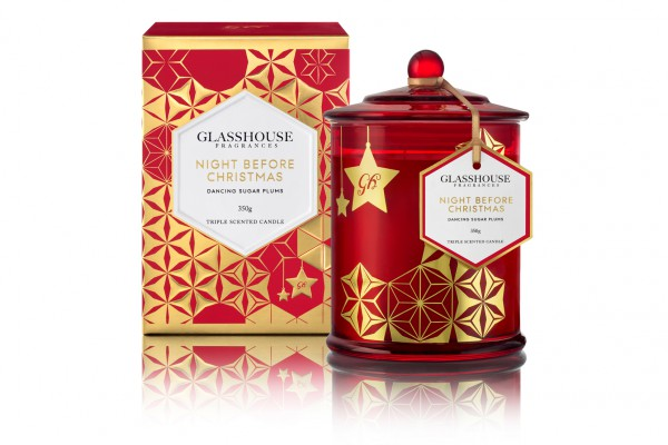 Glasshouse Fragrances Night Before Xmas Candle_RRP $44.95