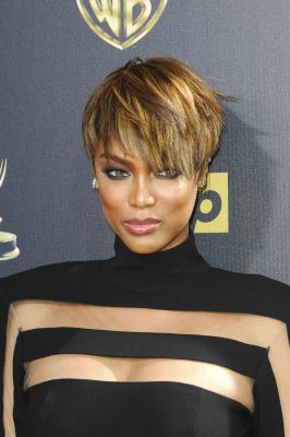 The 42nd Annual Daytime Emmy Awards at Warner Bros. Studios - Red Carpet Arrivals Featuring: Tyra Banks Where: Los Angeles, California, United States When: 26 Apr 2015 Credit: Apega/WENN.com