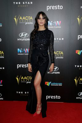 SYDNEY, AUSTRALIA - DECEMBER 09:  Courtney Eaton arrives ahead of the 5th AACTA Awards Presented by Presto at The Star on December 9, 2015 in Sydney, Australia.  (Photo by Mark Metcalfe/Getty Images for AFI) *** Local Caption *** Courtney Eaton