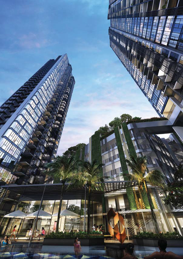 Artist's impression of the 578-unit Gem Residences with 37- and 38-storey towers