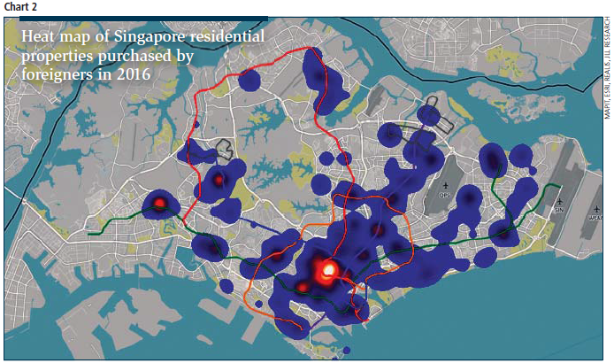 Hot Spots For Foreign Buyers In Singapores Residential Market - Map Us Foreign Trouble Spots