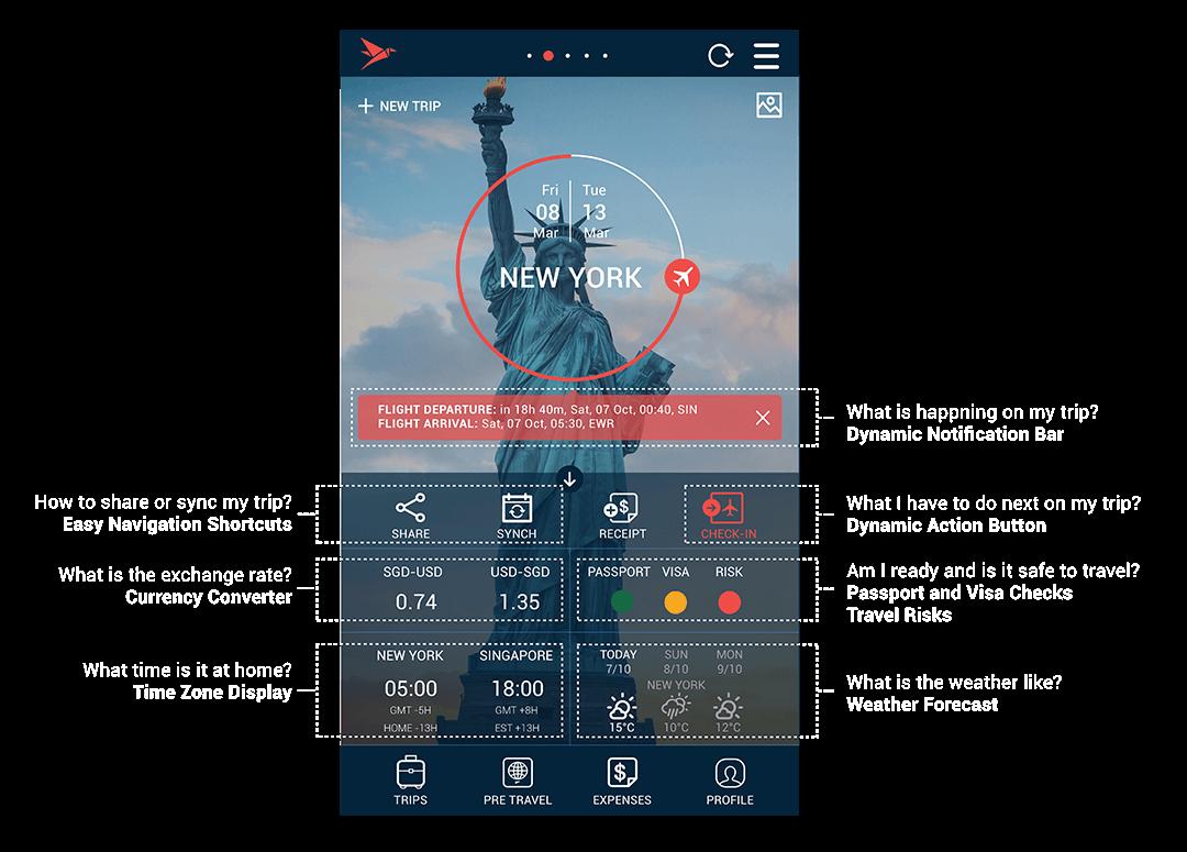 travelerbuddy new app homescreen