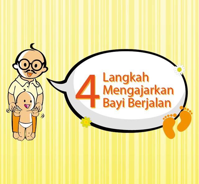 4 Langkah Mengajarkan Bayi Berjalan