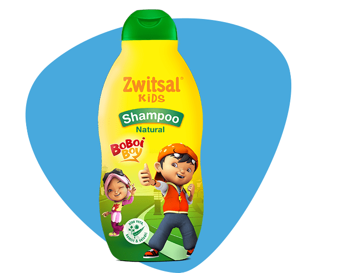 Zwitsal Kids Shampoo Natural Green with AVKS