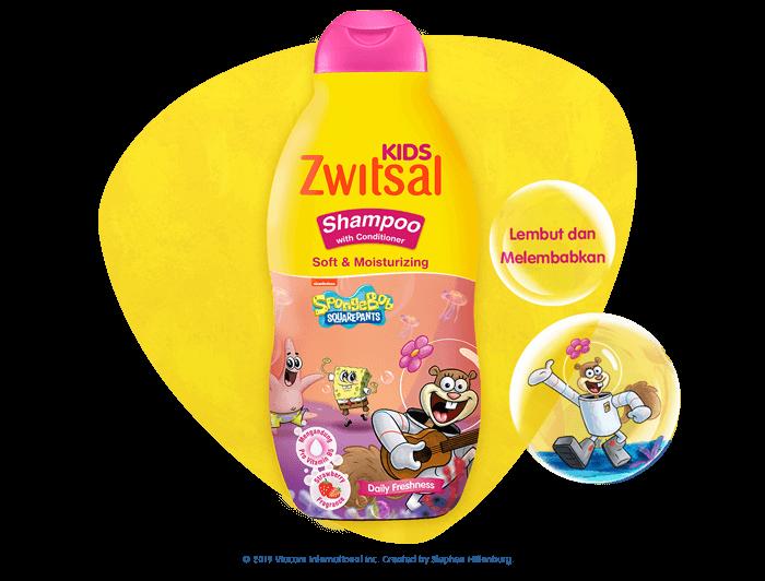 Zwitsal Kids Shampoo Soft & Moisturizing Pink