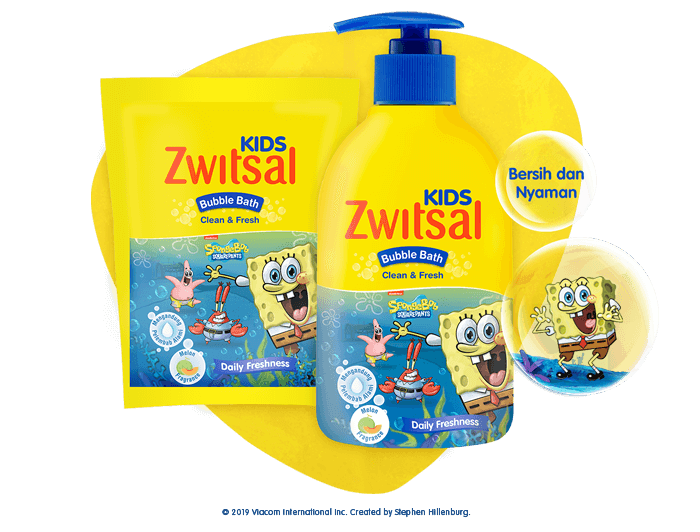Zwitsal Kids Bubble Bath Clean & Fresh Blue
