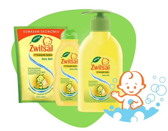 Natural Baby Bath with Minyak Telon
