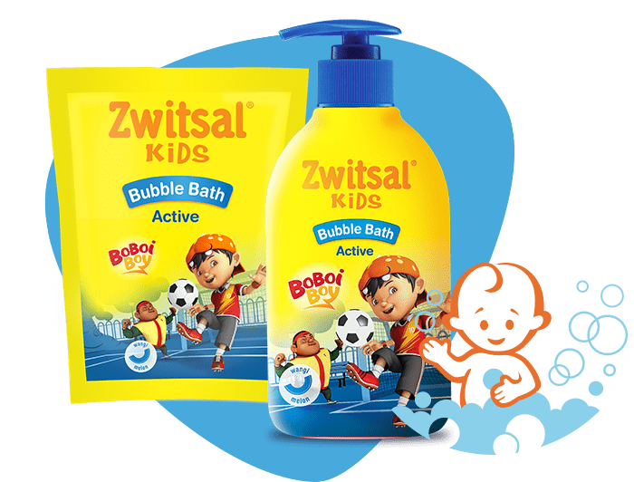Zwitsal Kids Bubble Bath Active Blue