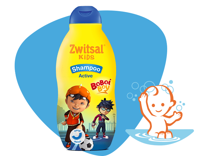 Zwitsal Kids Shampoo Active Blue