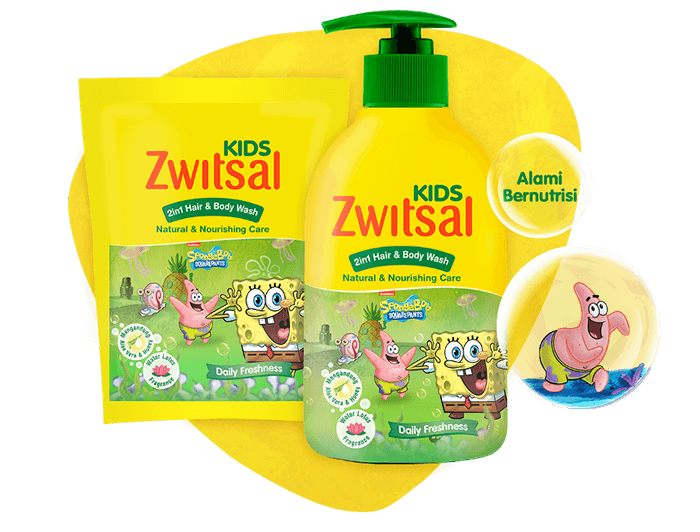 Zwitsal Kids 2-in-1 Hair and Body Natural & Nourishing Care Green