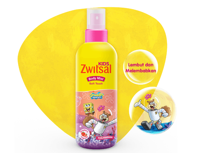 Zwitsal Kids Body Mist Soft Touch Pink