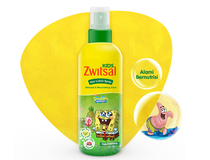 Zwitsal Kids Hair Lotion Natural & Nourishing Care Green