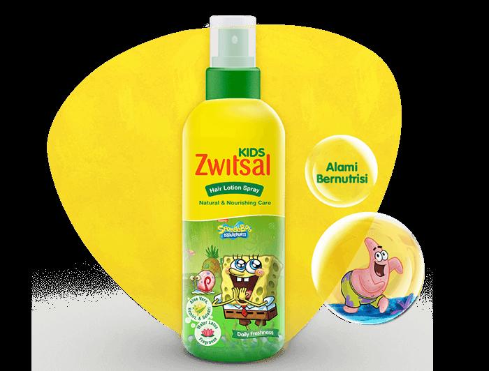Zwitsal Kids Hair Lotion Natural & Nourishing Care Green