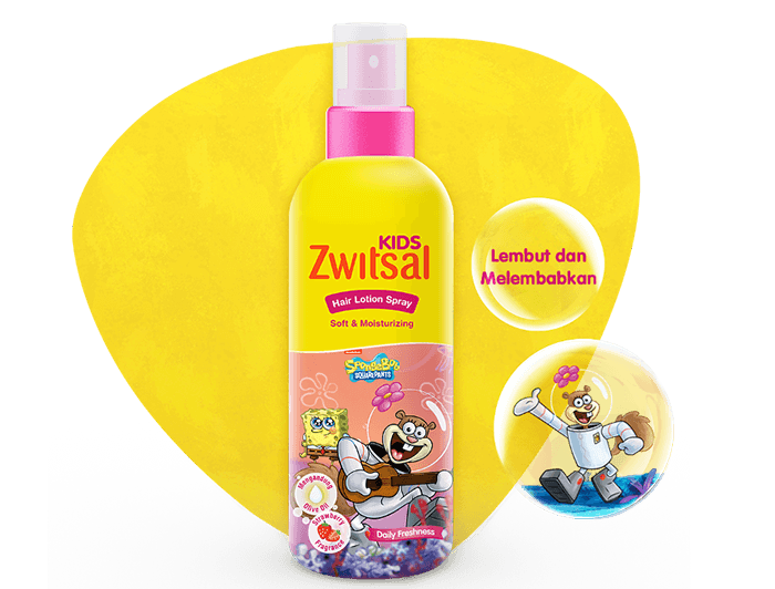 Zwitsal Kids Hair Lotion Soft & Moisturizing Pink