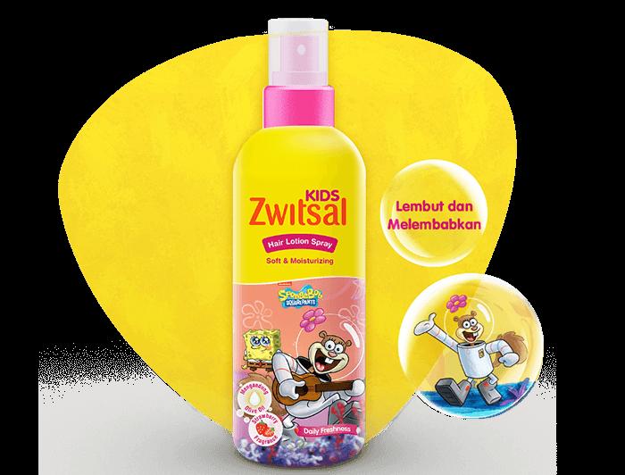 Zwitsal Kids Hair Lotion Soft & Moisturizing Pink
