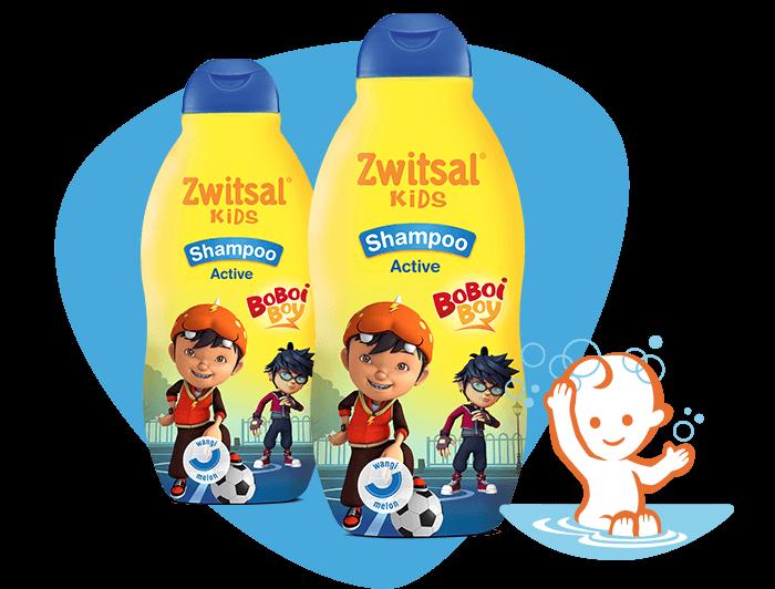 Zwitsal Kids Shampoo Active Blue