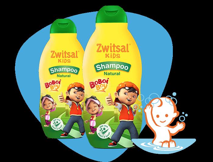 Zwitsal Kids Shampoo Natural Green with AVKS
