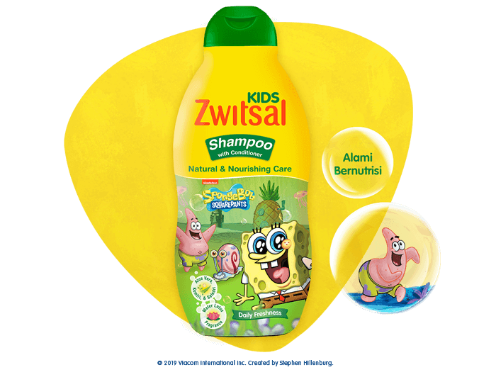 Zwitsal Kids Shampoo Natural & Nourishing Care Green