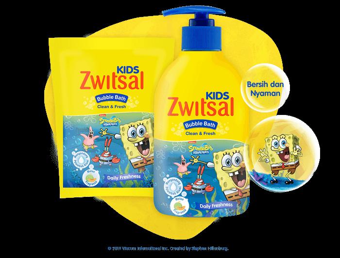 Zwitsal Kids Bubble Bath Clean & Fresh Blue
