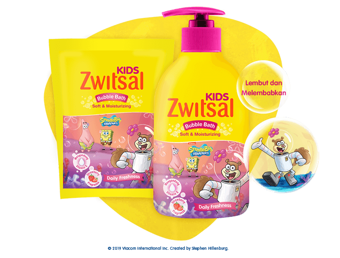 Zwitsal Kids Bubble Bath Soft & Moisturizing Pink