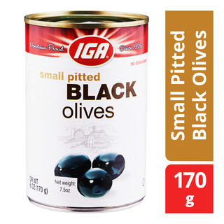 IGA Small Pitted Black Olives