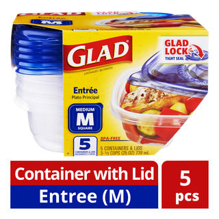 Glad Container with Lid - Entree (M)