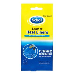 Scholl Heel Liners - Leather