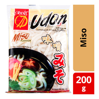 Orient Udon Japanese Style Noodle with Soup Powder - Miso