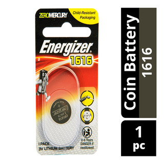 Energizer Lithium Battery - Zero Mercury (1616)