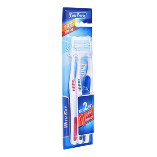 FairPrice Toothbrush - Soft with Cap + Free Impact