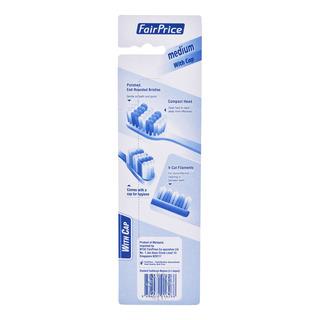FairPrice Toothbrush - Medium (Cap) + Free Impact
