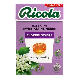 Ricola Natural Relief Swiss Herb Lozenges - Elderflowers(No Sugar)