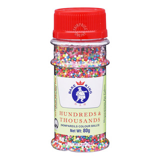 Bake King Topping - Hundreds & Thousands (Nonpareils Colour Balls)