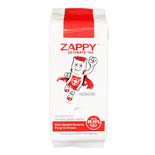 Zappy Alcohol Free Wipes - Antiseptic & Antibacterial