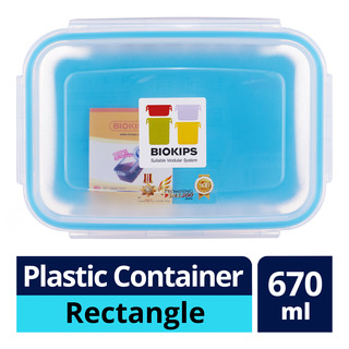 Komax Biokips Plastic Container - Rectangle