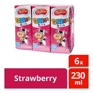 F&N Magnolia UHT Smoo Packet Milk - Strawberry
