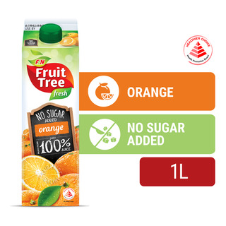F&N Fruit Tree Fresh No Sugar Added Juice - Orange
