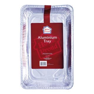 HomeProud Aluminium Tray (52.45 x 32.65 x 8.65cm)