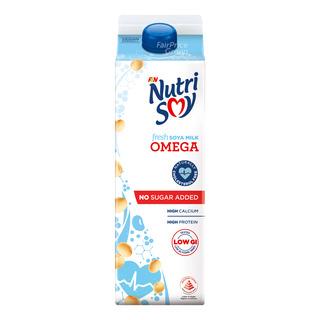 F&N NutriSoy High Calcium Fresh Soya Milk - Omega (No Sugar Added)