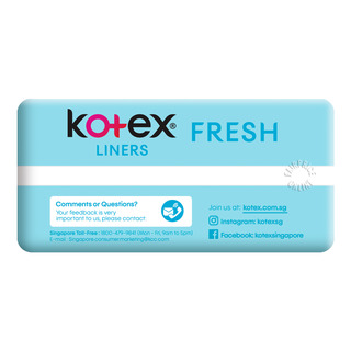 Kotex Breathable Freshliners - Green Tea (Regular)