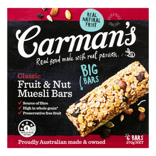 Carman's Muesli Bars - Classic (Fruit & Nut)