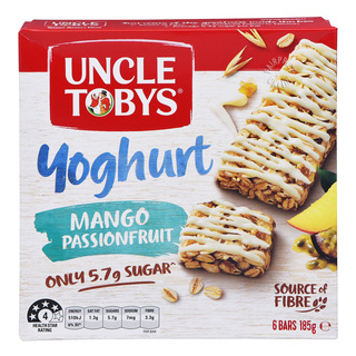 Uncle Tobys Wholegrain Yoghurt Muesli Bars - Mango&Passionfruit